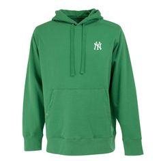 New York Yankees MLB Signature Hood Mens Hooded Sweatshirt Green