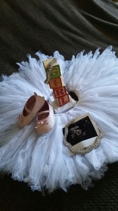 Tutus and diamonds it's a girl announcement