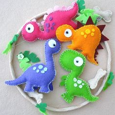Felt is an inexpensive material to work with if you buy small squares, and you can buy felt in so many colours - making it the ideal material to use to make a colourful and fun nursery mobile.