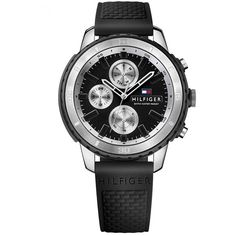 Relógio Tommy Hilfiger Masculino Borracha Preta - 1791194