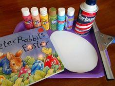 Shaving cream painted Easter eggs via Little Wonders' Days
