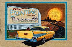 Pontiac Mural -  Route 66 Pontiac - Illinois