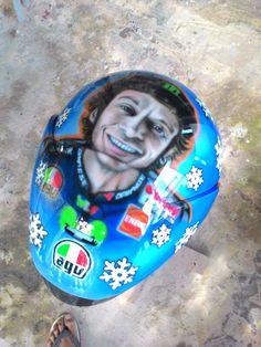 Rossi on ltd helmet