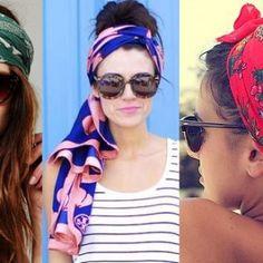 Cute ways to wear a scarf headwrap