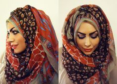 hijab with volume