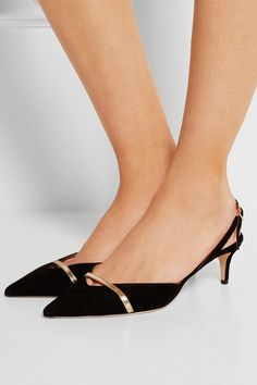 Jimmy Choo | Valley suede slingback pumps | NET-A-PORTER.COM