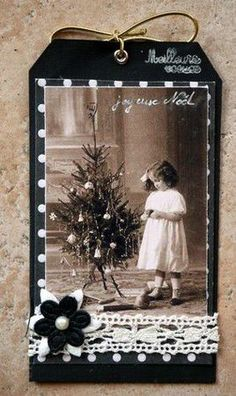 This sweet heritage Christmas tag idea would make a great page embellishment.