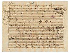 モーツアルト(1756-1791)自身による手書きの楽譜
