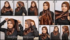 Trendy Hijab Styles Tutorial of 2013 Hijab Style Tutorial, Scarf Tutorial, Leopard Fashion, Hijab Fashion Inspiration, Turban Style, Loop Scarf, How To Wear Scarves, Beautiful Hijab, Square Scarf