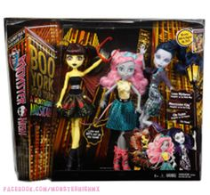 All about Monster High: pack Boo York, Boo York! City Ghouls™ Doll Bundle