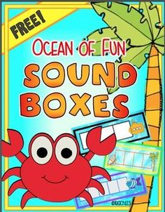 FREE Sound boxes with an ocean theme. Enrich guided reading lessons with these ocean themed sound boxes. After introducing them with your small groups, add them to your literacy centers. There are black and white versions and colorful versions. Students can use them to help them spell words or count syllables. Great addition to your word work or spelling lessons. Sounds box themes: fish, sub, shell, mermaid, shell, and seahorse…