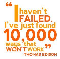 I haven't failied...