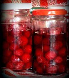 Meggybefőtt cukor nélkül Pickling Cucumbers, Pesto, Love Food, Pickles, Mason Jars, Food And Drink, Cooking Recipes, Cukor, Sweets