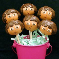 Dora the Explorer Cake Pops