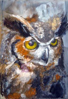 Owl painting - Wild life art by Brian S. Carney http://carneywildlifeart.artspan.com/ #Art #Animals