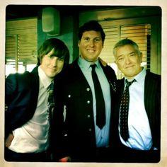 Lee Ingleby, Simon Hubbard, Martin Shaw on the set of George Gently June 2012