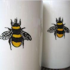 Ceramic Bee Mugs