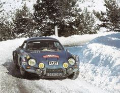Renault Alpine in the 1973 Monte Carlo Rally