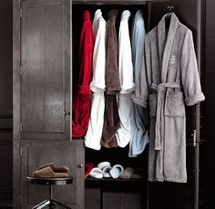 @Carrie Kirkpatrick : robes galore at restoration hardware
