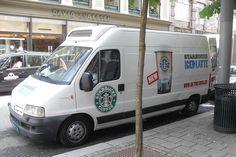 Starbucks sampling truck, Oslo