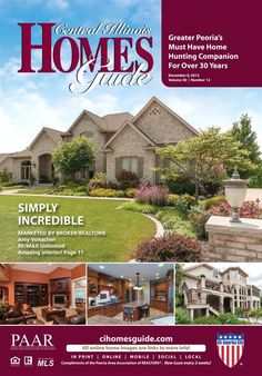 """The first of two December issues of the Central Illinois Homes Guide is now online!! Check out the December 6th issue now! You'll find many great homes and each one is interactive. Click on any home to view more photos and information. Keep an eye out for new listings to be added in the """"Just Added"""" section! #Peoria #IL #CentralIL #realestate #homesforsale #homes #homesguide #CIHG"""