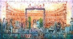 Gross Arnold - Művészetek kertje / Arts of guarden Illustrations Posters, Vintage World Maps, Sculptures, Graphic Design, Architecture, Drawings, Artist, Artwork, Photography