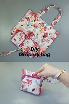 Reusable Shopping Bags, Reusable Bags, Shopper Bag, Small Bags, Ideas, Brand Packaging, Sewing Tutorials, Eco Friendly, Projects