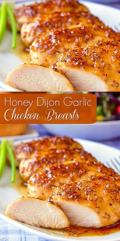 Honey Dijon Garlic Chicken Breasts Honey Dijon Garlic Chicken BreastsYou can find Easy chicken breast recipes and more on our website. Chicken Breast Recipes Dinners, Easy Chicken Dinner Recipes, Baked Chicken Recipes, Garlic Recipes, Chicken Recipes With Honey, Honey Recipes, Baked Honey Garlic Chicken, Roasted Chicken Breast, Boneless Chicken Breast