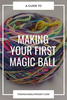 Take your scrap bits and pieces of yarn and transform them into a magic ball and make new projects! # scrap yarn crochet projects Making your first Magic Ball Scrap Yarn Crochet, Crochet Wool, Crochet Crafts, Crotchet, Dishcloth Crochet, Crochet Mandala, Crochet Afghans, Crochet Blankets, Crochet Granny