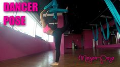 10-Dancer Pose Aerial Yoga Tutorial with Margie Pargie -001