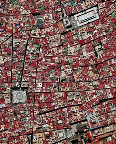 """Cádiz is an ancient port city surrounded by the sea in southwest Spain. Because the city was constructed upon a spit of land that cannot support high-rises, its skyline has not substantially changed since medieval times. A portion of the """"Old City"""" — an area characterized by narrow winding alleys connecting large plazas and markets — is seen in this Overview. /// Created by @benjaminrgrant, source imagery: @digitalglobe  Google Earth, Drone, Aerial  Images & Photography"""