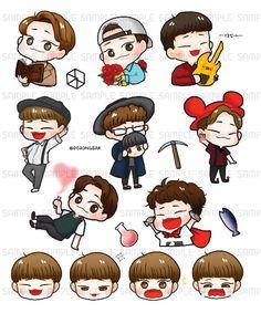 Image result for 엑소 팬 프로젝트 Chi Bi, Exo Stickers, Exo Fan Art, Exo Chen, Brother, Fanart, Handsome, Kawaii, Bts