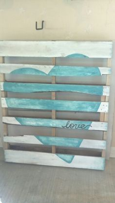 Kid's room wall decor pallet art