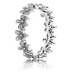 Pandora - Daisy blomster sølv ring