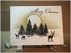 Peaceful Holidays One Layer Card - stampTV