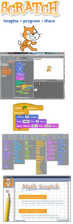 Scratch is definately the most famous visual programming language there is. It has been founded at MIT Media Lab, and through a very intuitive design children at very young age can create games. Scratch let's users upload their games to their web 2.0 platform, giving users an oppertunity to learn from others .