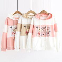 Harajuku Fashion, Kawaii Fashion, Cute Fashion, Cute Outfits For School, Cute Summer Outfits, Kawaii Hoodie, Kawaii Clothes, Cute Cartoon, Aesthetic Clothes