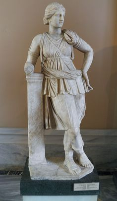 Statue of Artemis, from Mytilene, Lesbos, Roman copy of a 4th century BCE type