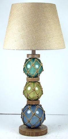 glass floats lamp