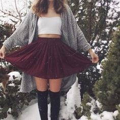 tumblr outfit / fashion ❅ winter