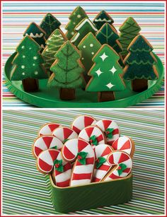"""Sometimes the simplest sugar cookie decorations make the biggest impact. -note from LB: yeah, that was the actual caption...can you imagine how ours would turn out if we tried these""""simple"""" decorations? 3 words: Baby Jesus Cookie."""