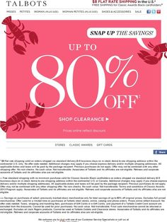 90 best sale ohhh yes images on pinterest email newsletter snap to it save up to 80 on clearance talbots fandeluxe Image collections