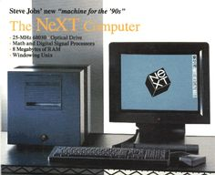The NeXT Computer by steve jobs. introduced on Byte mag Gaming Computer Setup, Computer Workstation, Computer Companies, Steve Wozniak, Math 8, Old Computers, Apple Computers, Steve Jobs, How To Memorize Things