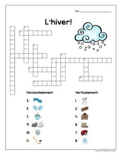 French Winter + Sugaring Off: Word Wall and Vocabulary Games French Teacher, Teaching French, French Tutors, French Worksheets, French For Beginners, Learning A Second Language, French Grammar, Core French, French Classroom