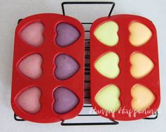 Hungry Happenings: Naturally Colored Conversation Heart Cheesecakes