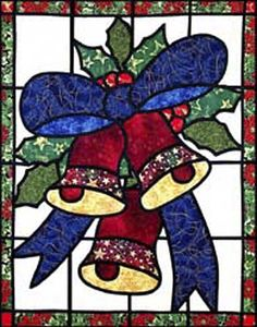 Christmas Bells - Stained Glass Quilt