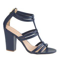 J.Crew - Back-zip high-heel sandals