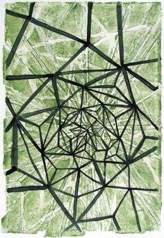 "FGPP #19, 2011, watercolor monoprint, 24"" x 18"""