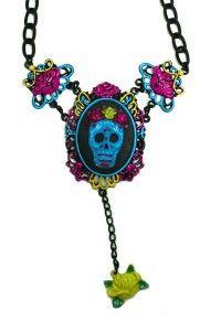 Cameo Necklace - Sugar Skull