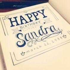Afbeeldingsresultaat voor hand lettering happy birthday